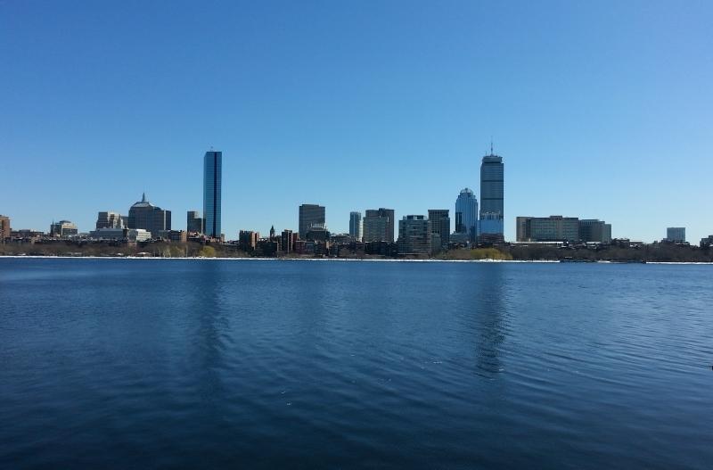 Näkymä Bostoniin MIT:n historian laitoksen takaa.